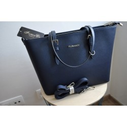 Flora & Co shopper groot donkerblauw
