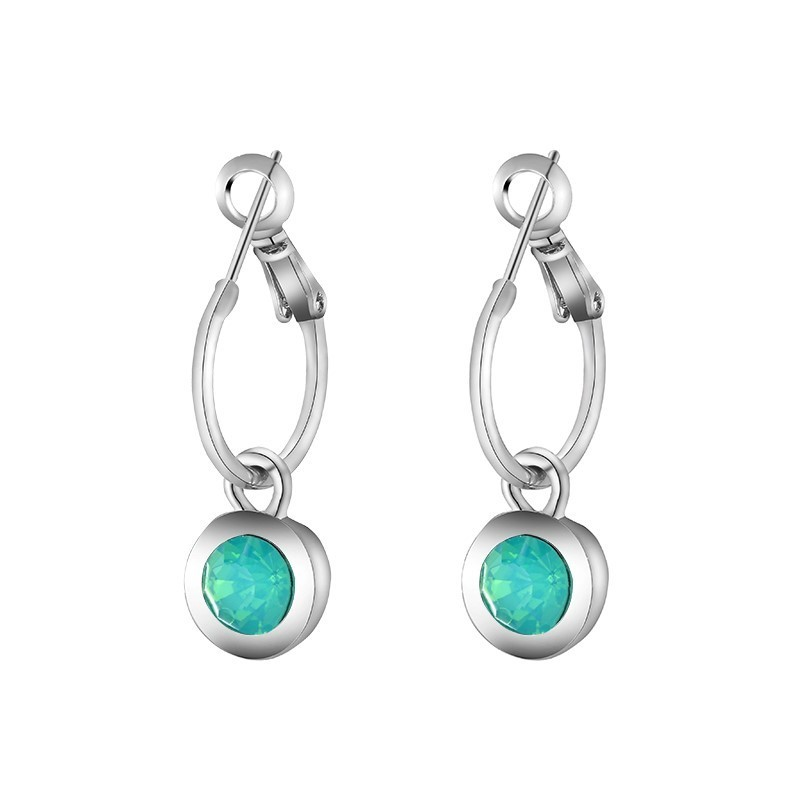 Oorbellen 'Chic Sparkle' mint